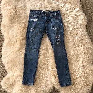 Abercrombie & Fitch 6s Blue Jeans with Rips